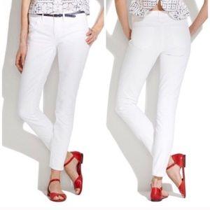 MADEWELL | Skinny Skinny Ankle White Jeans